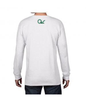 Good Vibes Dark Teal White Long Sleeve T-shirt