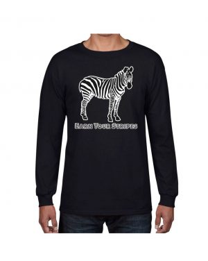 Good Vibes Earn Your Stripes Black Long Sleeve T-shirt