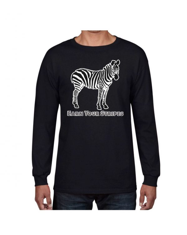 Good Vibes Earn Your Stripes Black Long Sleeve T-shirt