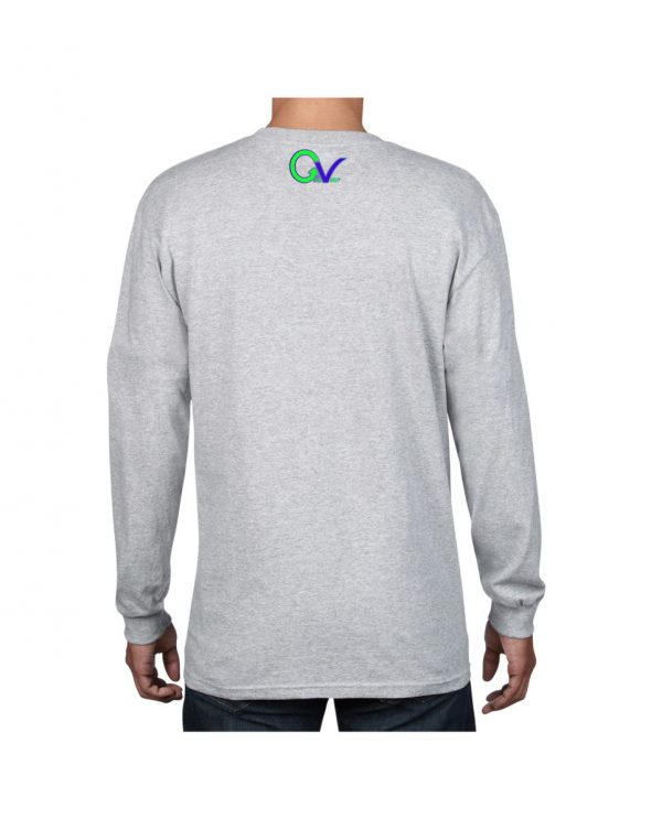 Good Vibes Green Purple Logo Gray Long Sleeve T-shirt