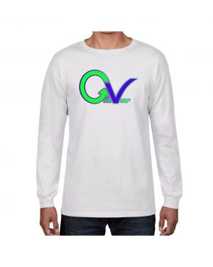 Good Vibes Green Purple Logo White Long Sleeve T-shirt