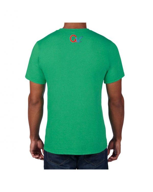 Good Vibes GV Multi Color Green T-shirt