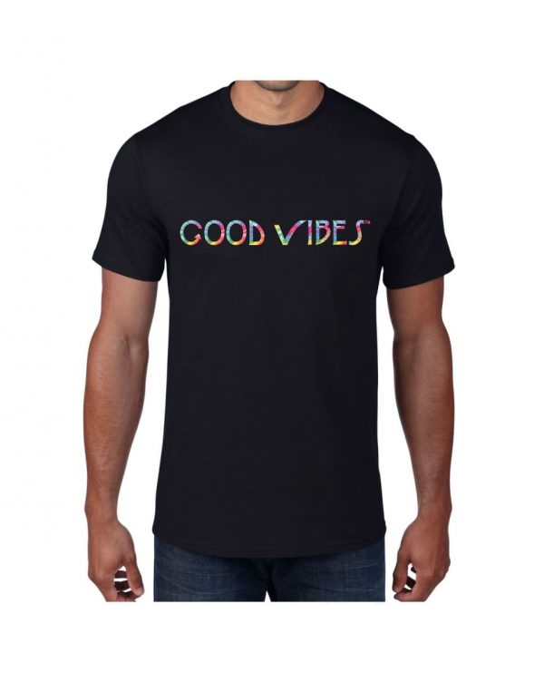 Good Vibes Tie Dye Black T-shirt