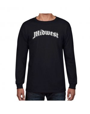 Good Vibes Midwest Black Long Sleeve T-shirt