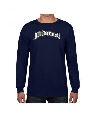 Good Vibes Midwest Navy Long Sleeve T-shirt