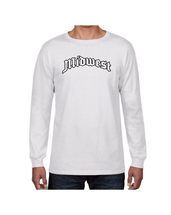 Good Vibes Midwest White Long Sleeve T-shirt