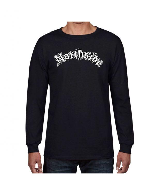 Good Vibes Northside Logo Black Long Sleeve Tshirt