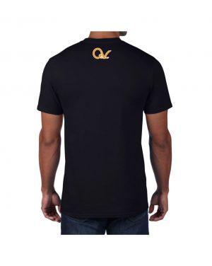 Good Vibes Orange Checker Logo Black T-shirt