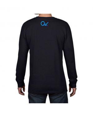 Good Vibes Purple GV Black Long Sleeve T-shirt