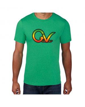 Good Vibes Rastafarian GV Green T-shirt
