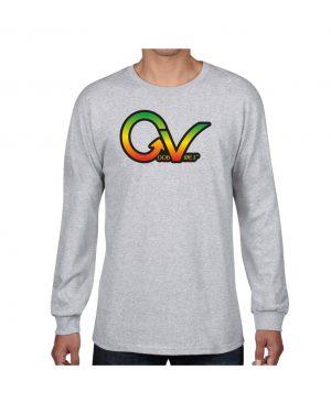 Good Vibes Rastafarian GV Gray Long Sleeve T-shirt