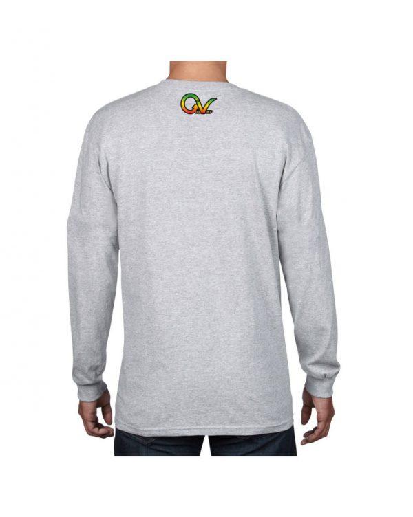 Good Vibes Rastafarian GV Gray Long Sleeve Tshirt