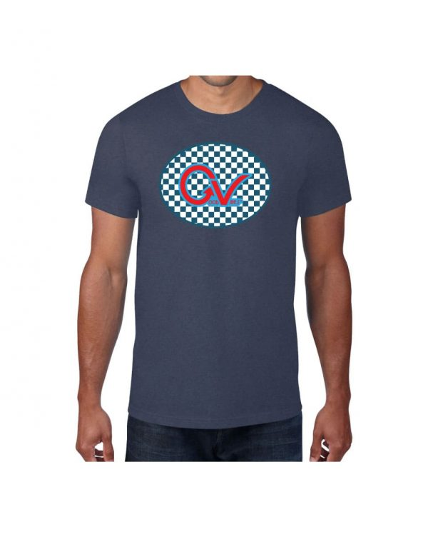 Good Vibes Blue Red Checkered Blue T-shirt