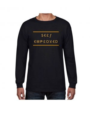 Good Vibes Self Employed Black Long Sleeve T-shirt