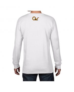 Good Vibes Self Employed White Long Sleeve T-shirt