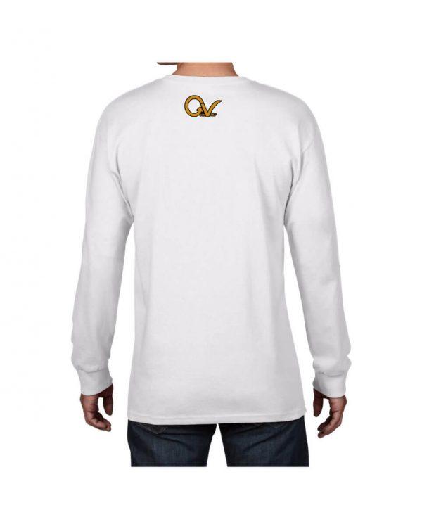 Good Vibes Self Employed White Long Sleeve T-shirt