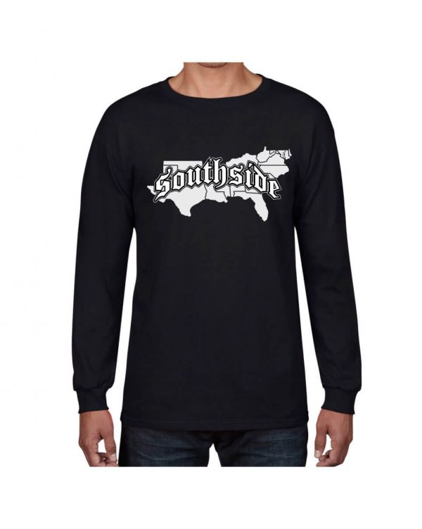 Good Vibes Southside Map Black Long Sleeve Tshirt
