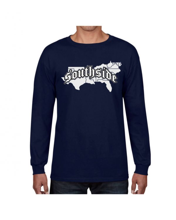 Good Vibes Southside Map Navy Long Sleeve Tshirt
