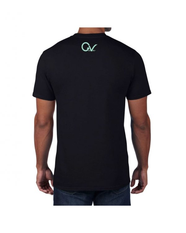 Teal Good Vibes Black T-shirt