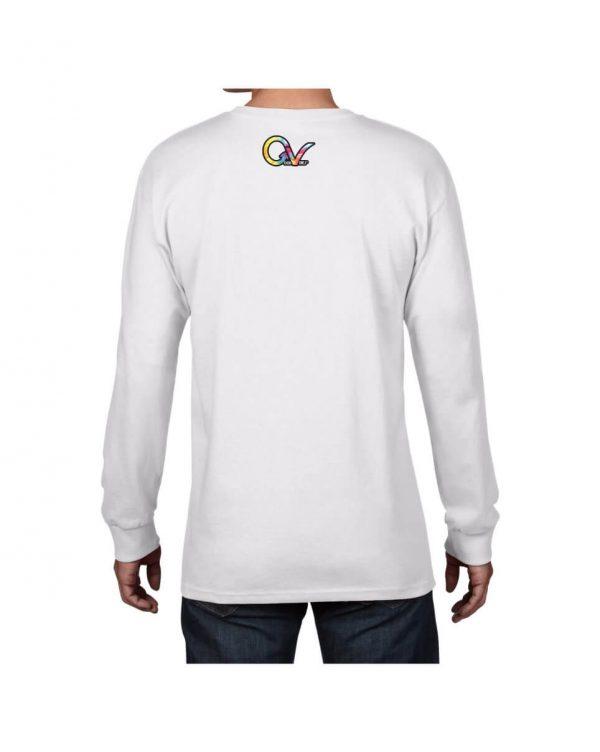 Good Vibes Tie Dye White Long Sleeve T-shirt