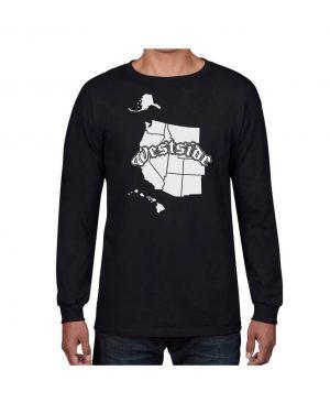 Good Vibes Westside Map Black Long Sleeve T-shirt
