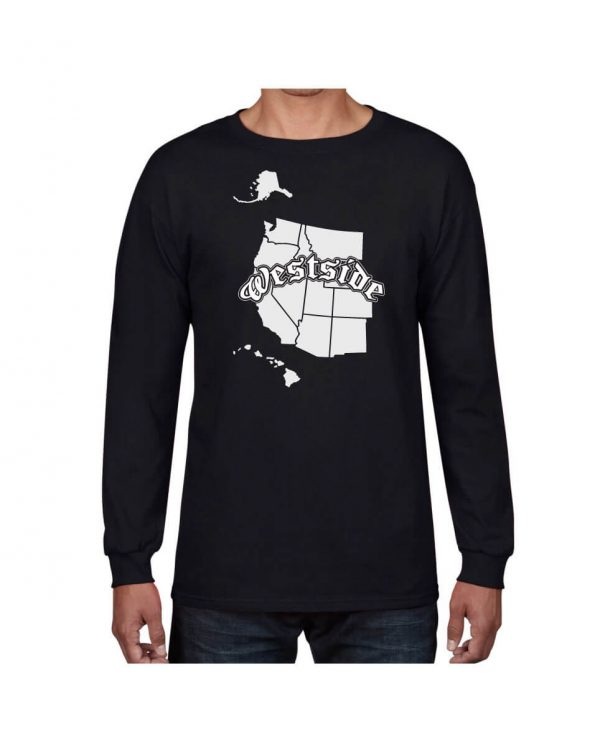 Good Vibes Westside Map Black Long Sleeve T-shirt