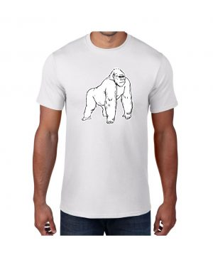 Good Vibes White Gorilla White T-shirt