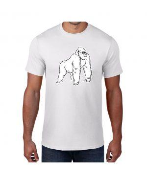 Good Vibes White Gorilla White T-shirt
