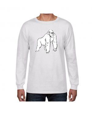 Good Vibes White Gorilla White Long Sleeve T-shirt