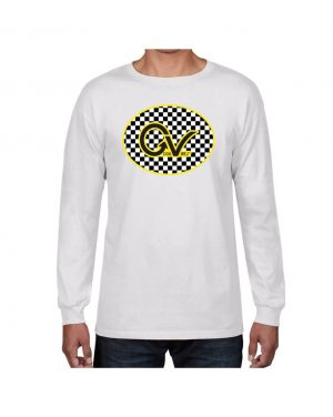 Good Vibes Yellow Checker GV White Long Sleeve T-shirt