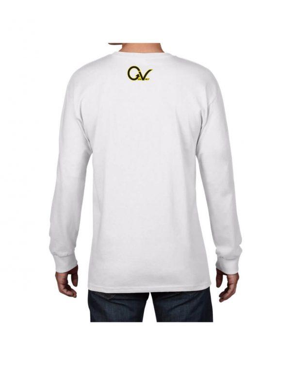 Good Vibes Yellow Checker GV White Long Sleeve T-shirt