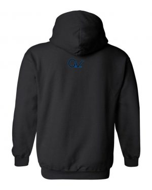 Good Vibes Blue Black Checker Black Hoodie