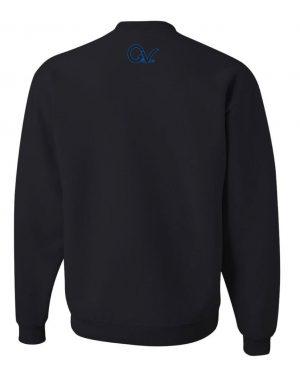 Good Vibes Blue Black Checker Black Sweatshirt