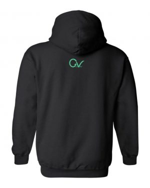Good Vibes Dark Teal Black Hoodie