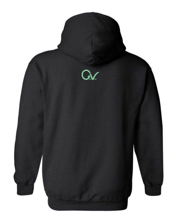 Good Vibes Green GV Logo Black Hoodie
