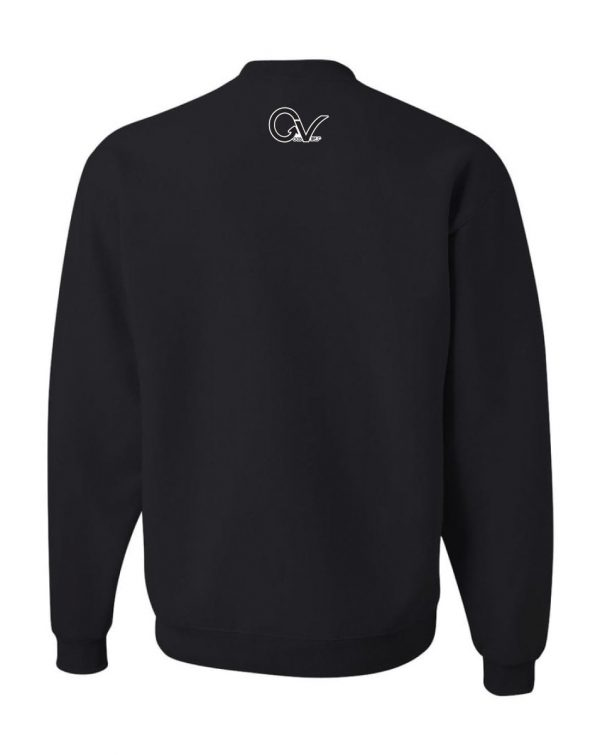 Good Vibes Earn Your Stripes Black Sweatshirt