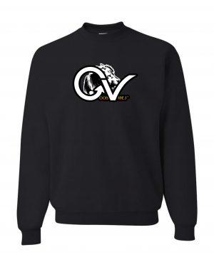 Good Vibes Rasta White Lion Logo Black Sweatshirt