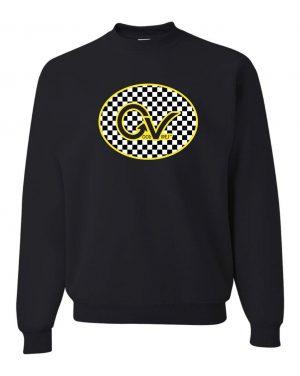 Good Vibes Yellow Checker GV Black Sweatshirt