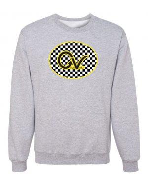 Good Vibes Yellow Checker GV Gray Sweatshirt