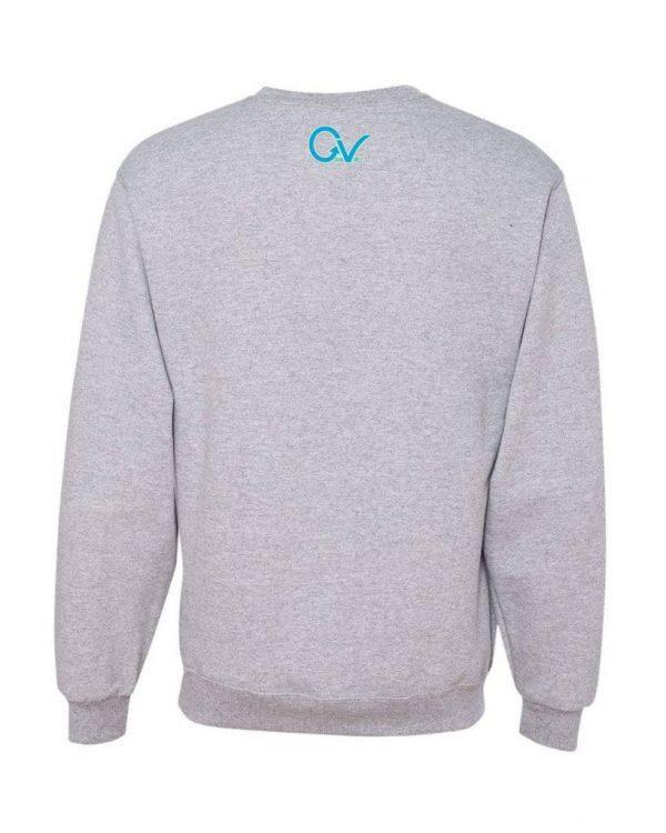 Good Vibes Blue Light Green Checker Gray Sweatshirt