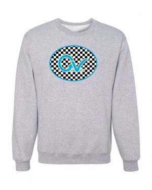 Good Vibes Blue Light Green Checker Gray Sweatshirt