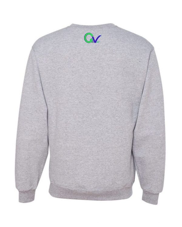 Good Vibes Green Purple Logo Gray Sweatshirt