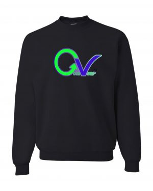 Good Vibes Green Purple Logo Black Sweatshirt