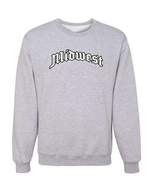 Good Vibes Midwest Gray Sweatshirt