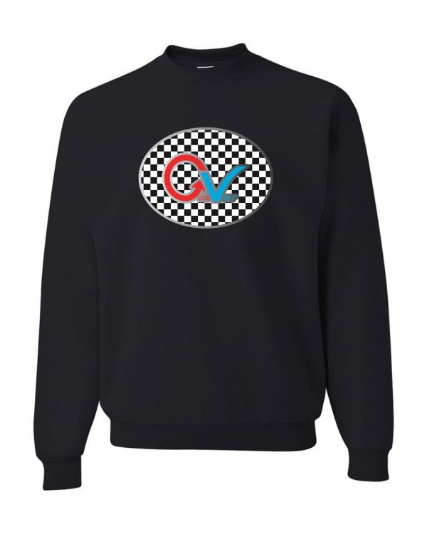 Multi Color Checker Black Sweatshirt Frt-min