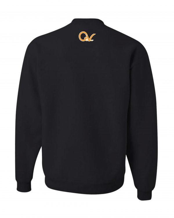 Good Vibes Orange Checker Logo Black Sweatshirt