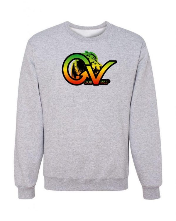 Good Vibes Rastafarian Lion GV Gray Sweatshirt