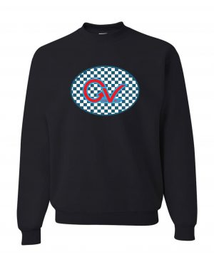 Good Vibes Blue Red Checkered Black Sweatshirt