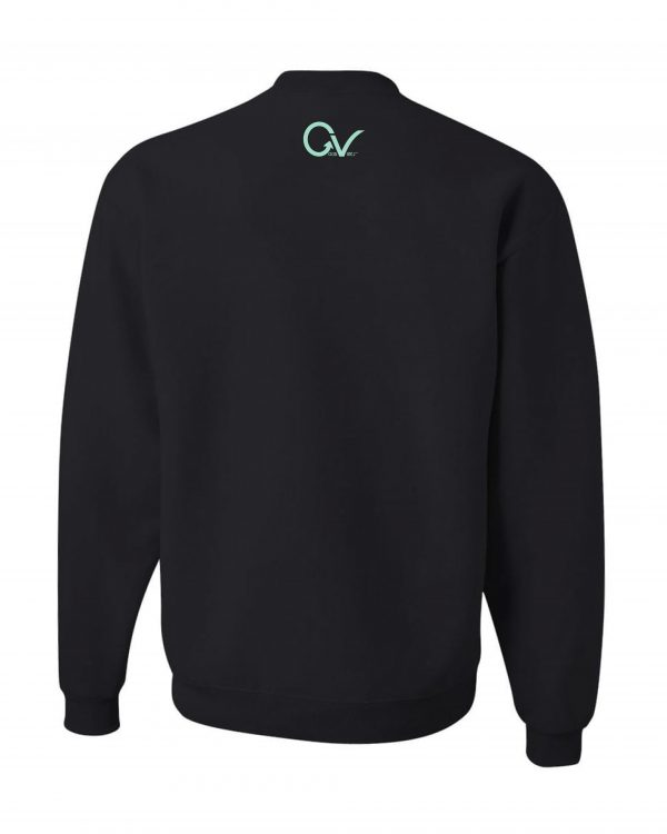 Teal Sweatshirt Black Back-min