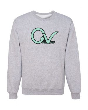 Teal Good Vibes Gray Sweatshirt